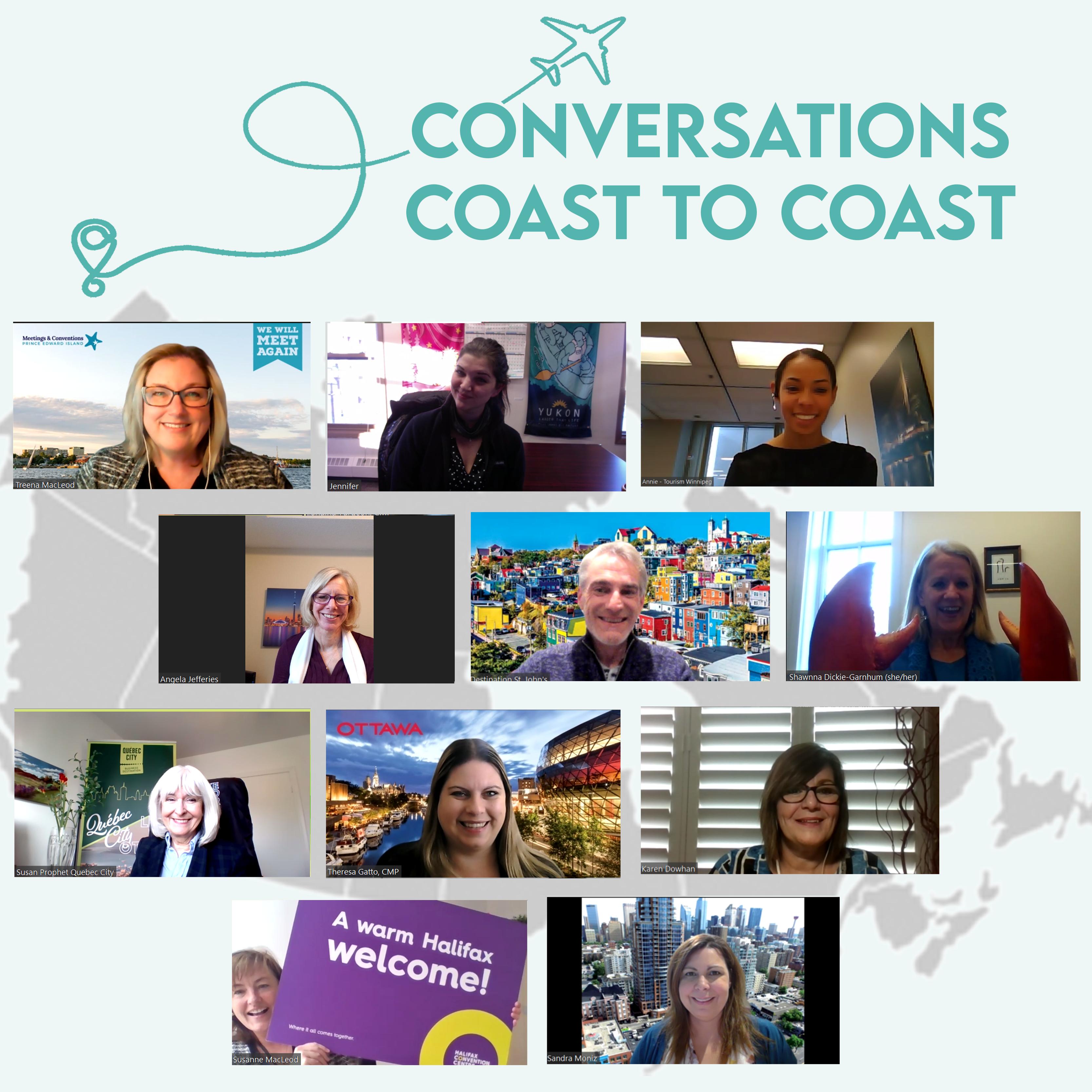 Conversations Coast to Coast Collage